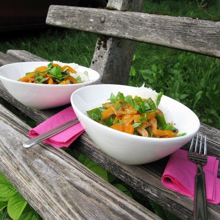 Abendessen im Freien