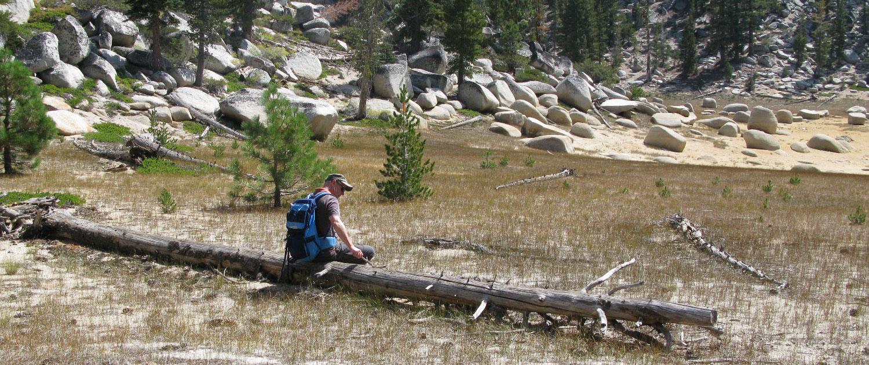 Rast am Twin Lake hoch über Lake Tahoe