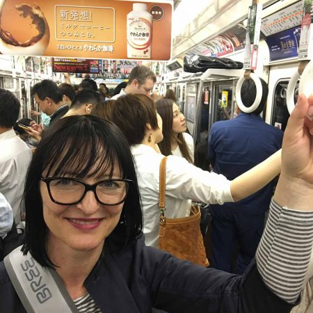 Our first Metro ride in Osaka