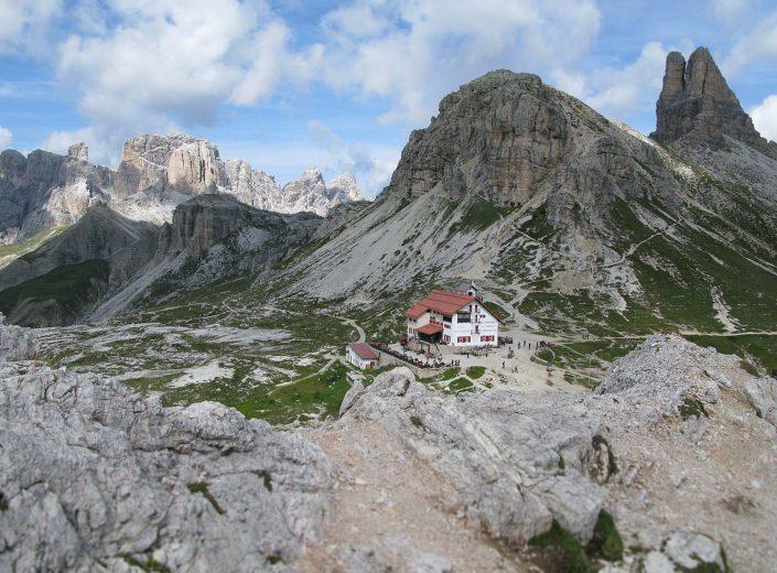 Drei Zinnen Hütte in den Sextner Dolomiten
