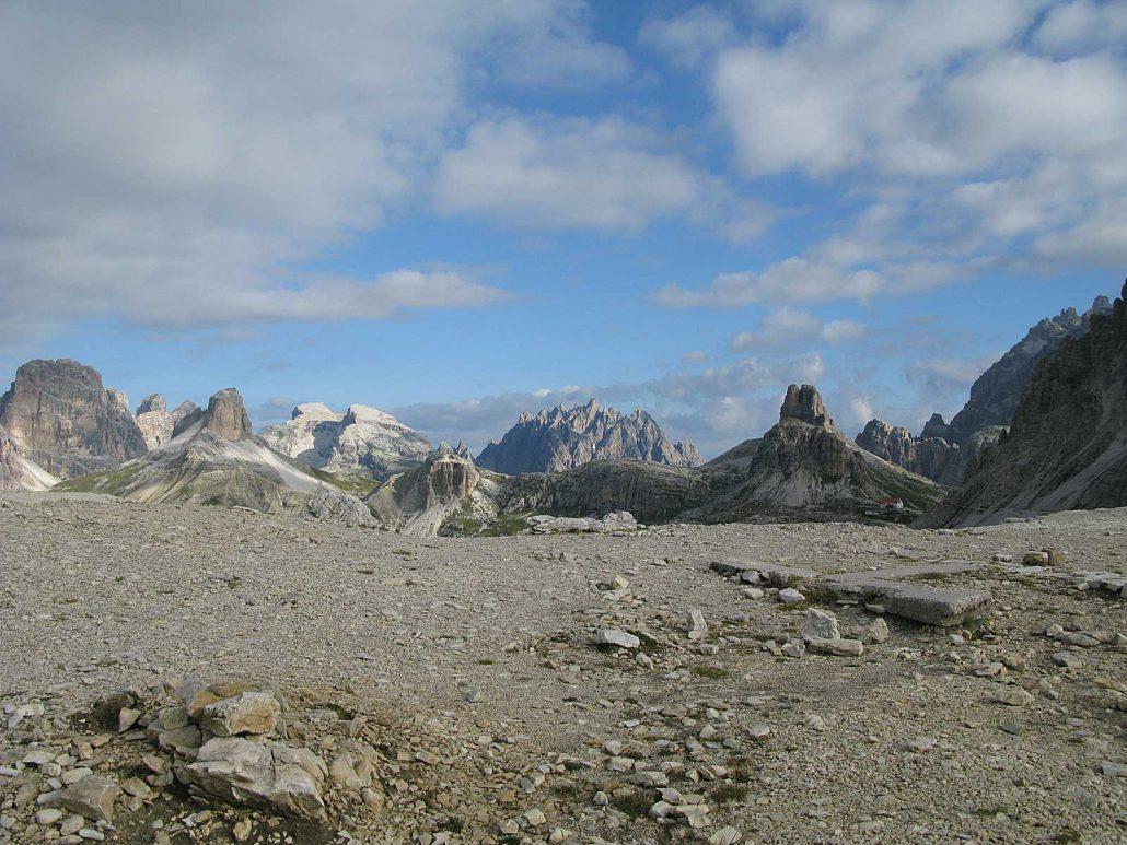 Blick vom Gipfel des Paternkofel (2744 m), Sextner Dolomiten