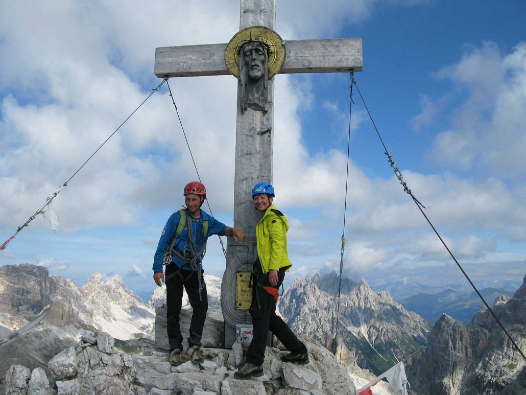 Gipfelkreuz Paternkofel (2744 m), Sextner Dolomiten