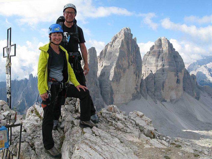 Am Gipfel des Paternkofel (2744 m), Sextner Dolomiten
