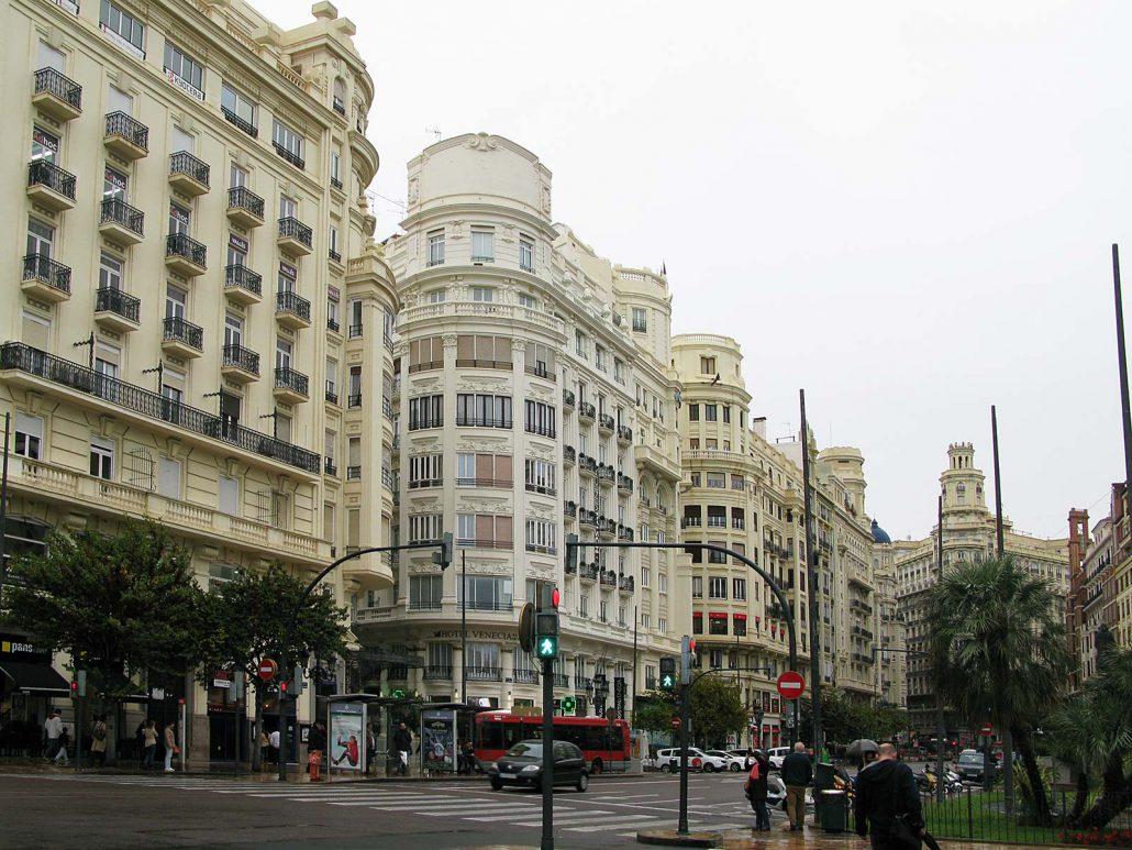 Prachtvolle Stadthäuser im Zentrum Valencias