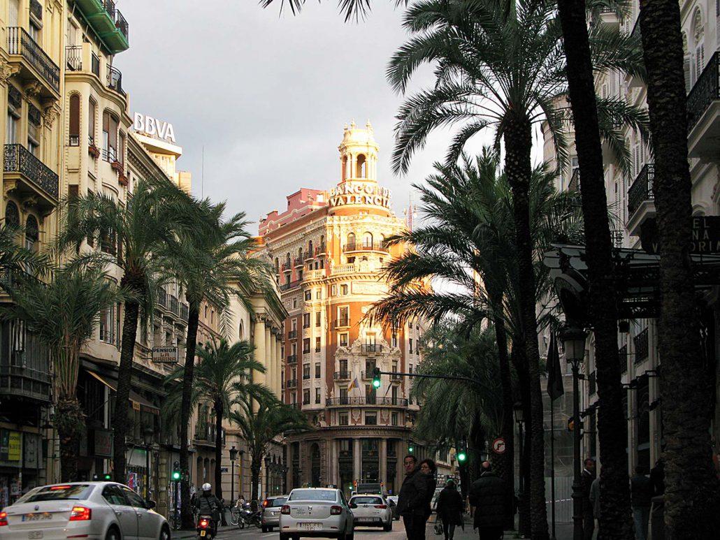 Prachtvolles Gründerzeit-Gebäude der Banco de Valenica in Valencia