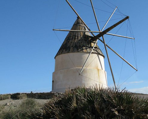 The old wind mill Los Genoveses