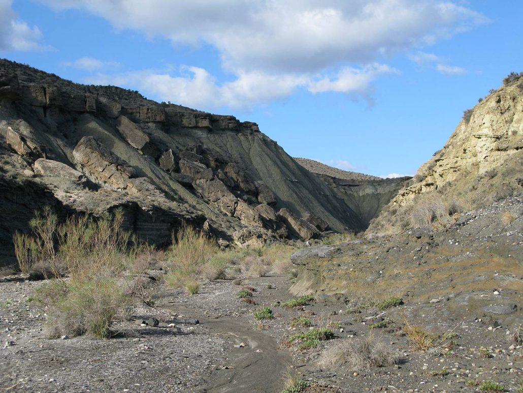 Trockenes Flussbett Rambla de Tabernas