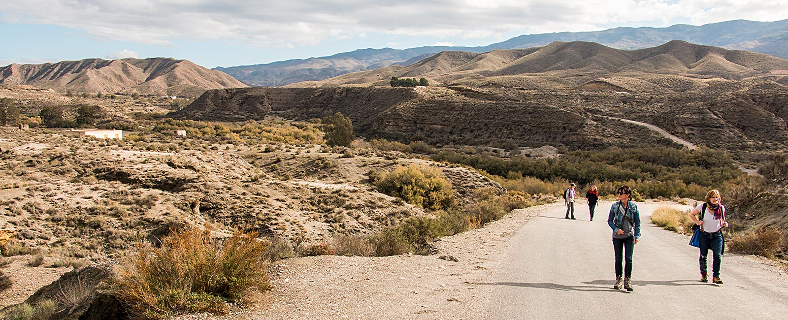 Hiking in the area of Tabernas in Andalusia