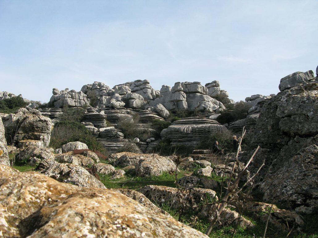Karstlandschaft des El Torcal bei Antequera in Andalusien