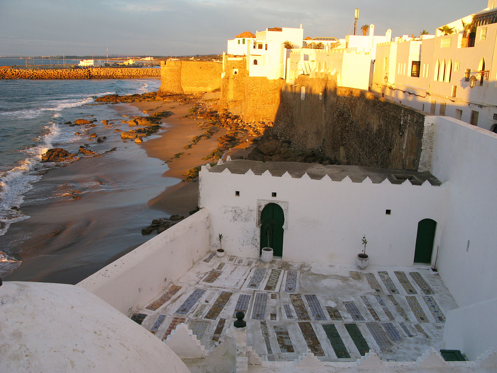 Magic sunlight over the medina of Asilah