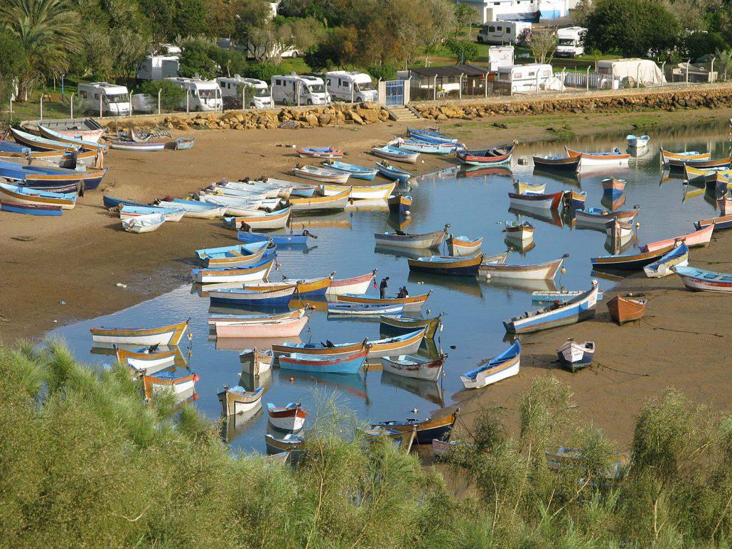 Die Bucht im Fischerdorf Moulay Bousselham