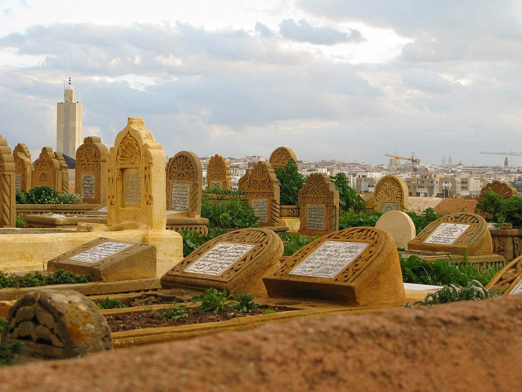Cemetery of Salé in Morocco