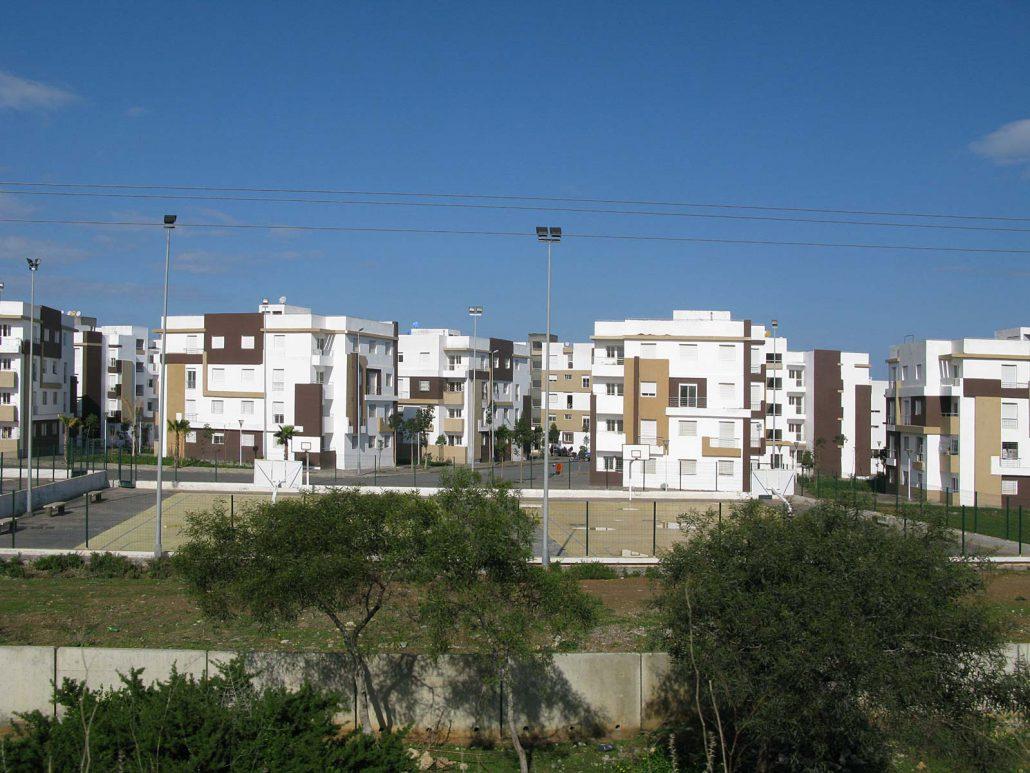 Modernes Neubaugebiet in Marokko