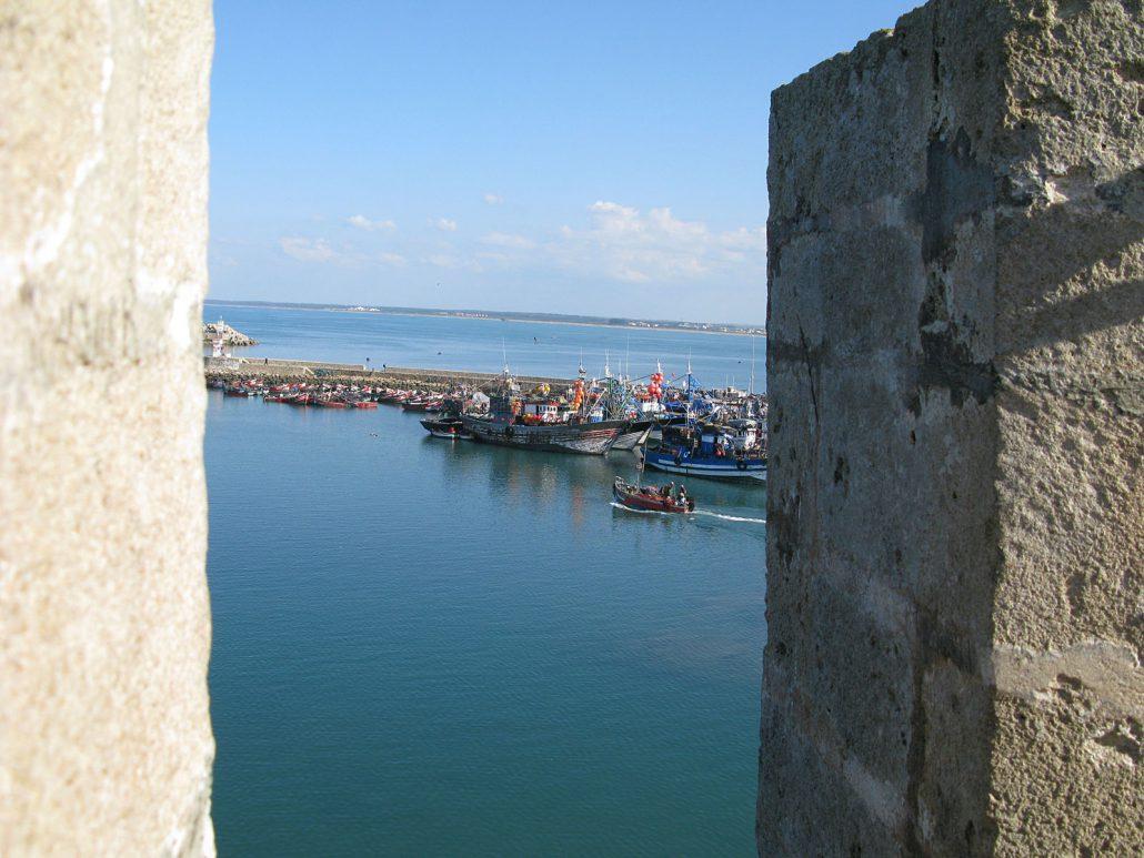 The harbor of El Jadida in Morocco