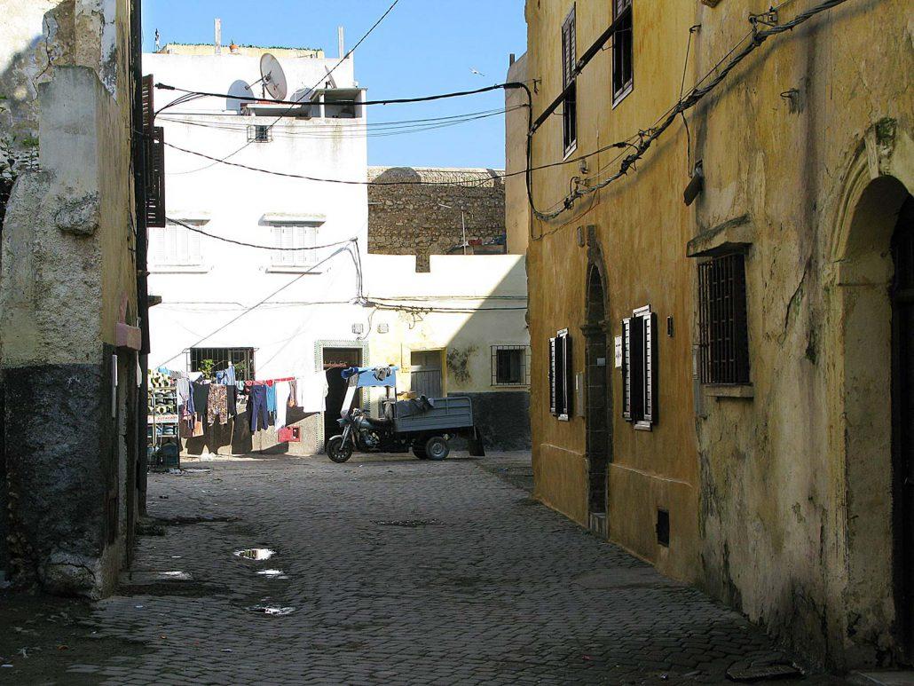 Narrow streets of Cité Portugaise in El Jadida