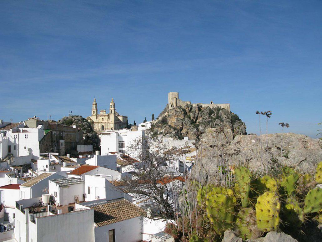 Blick über den Ort Olvera in Andalusien