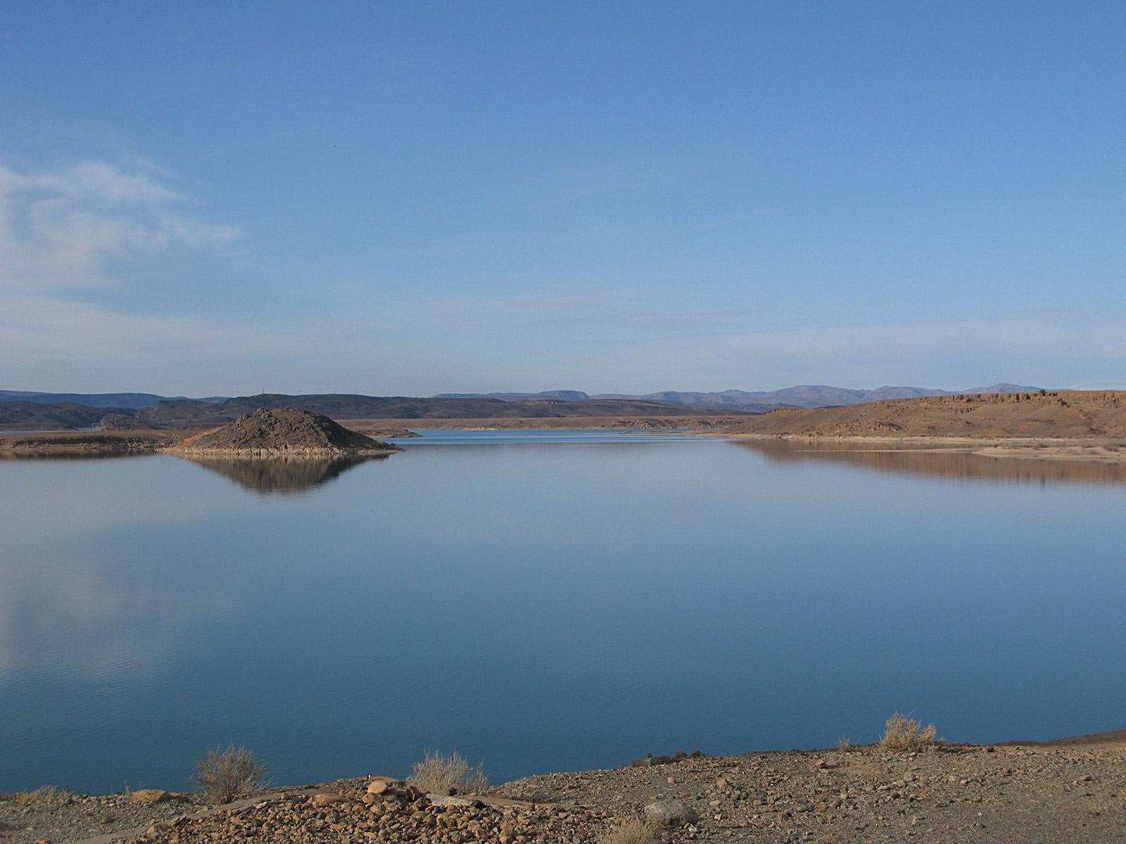 Stausee Barrage Al Mansour Ad Dah