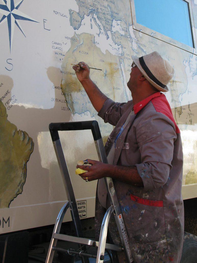 Kunstmaler in Marokko