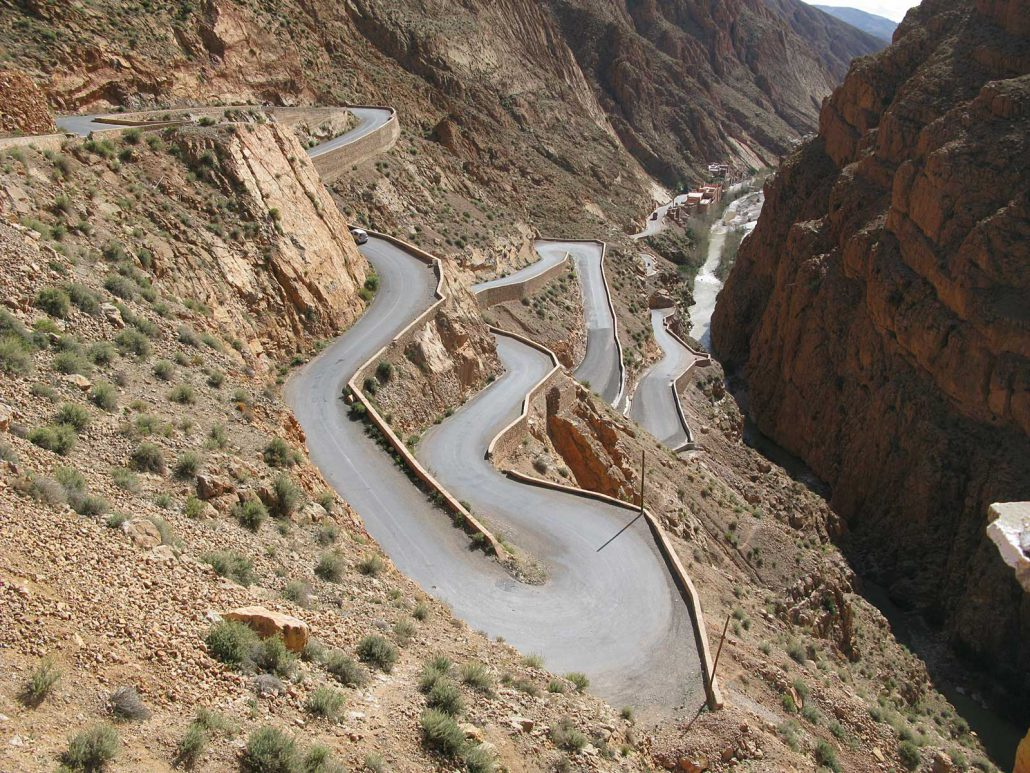 Serpentines at Gorge of Dades