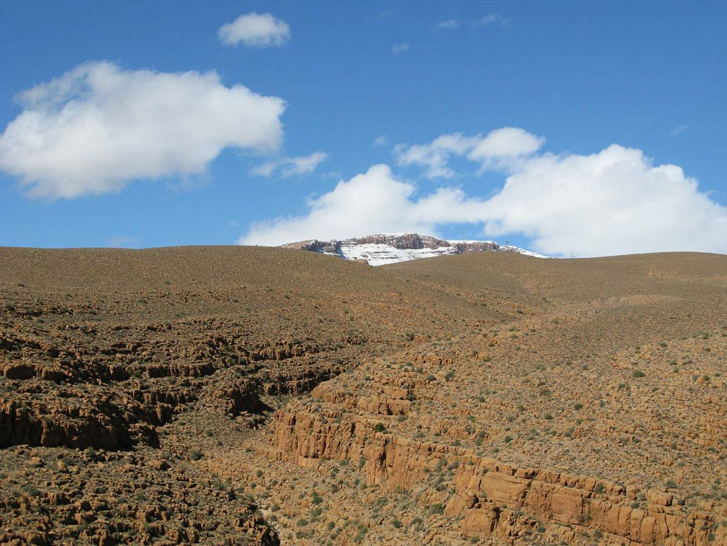 Snow on the summits of High Atlas
