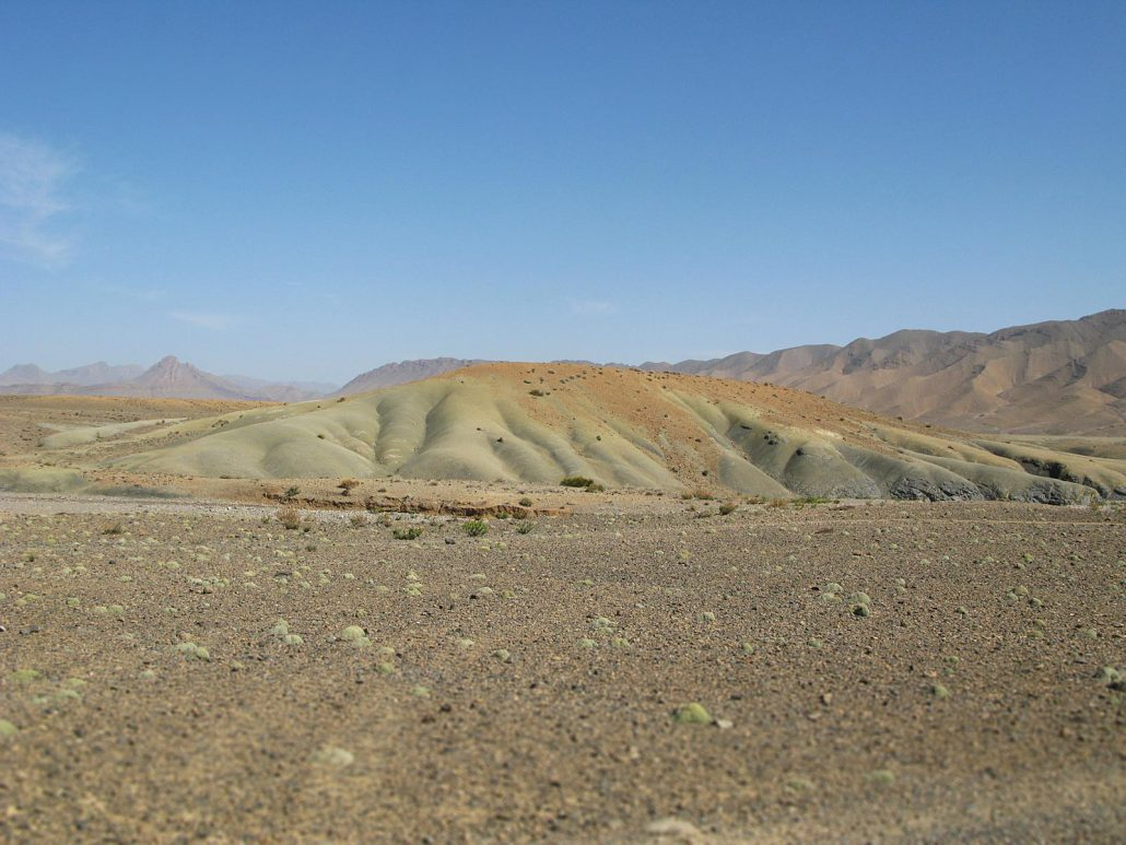 Desert landscape at Atlas mountains in Morocco