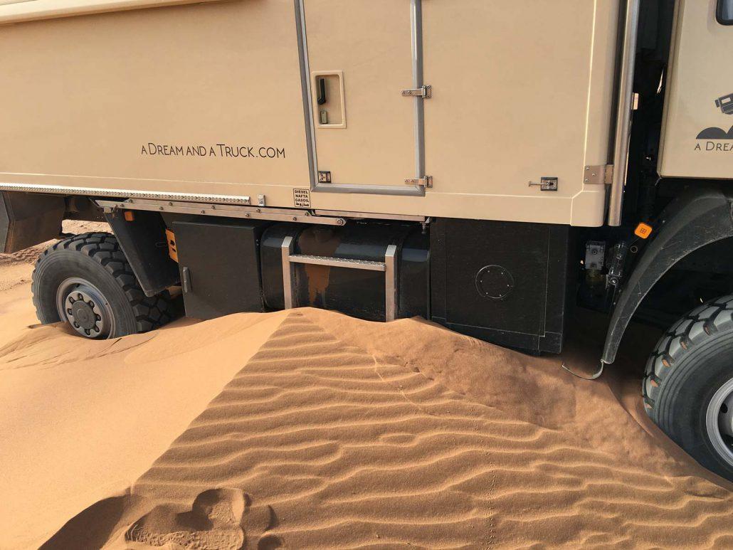 Festgefahren im Wüstensand
