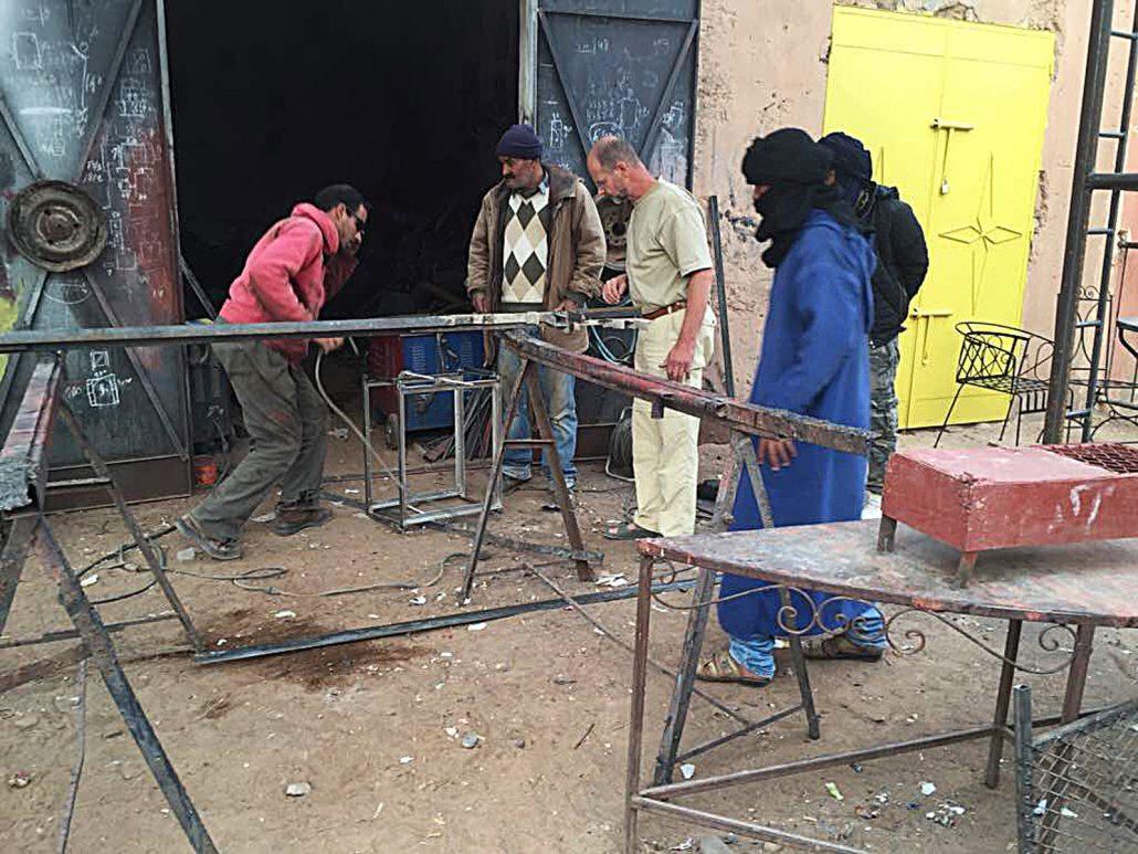 Werkstatt in M'Hamid
