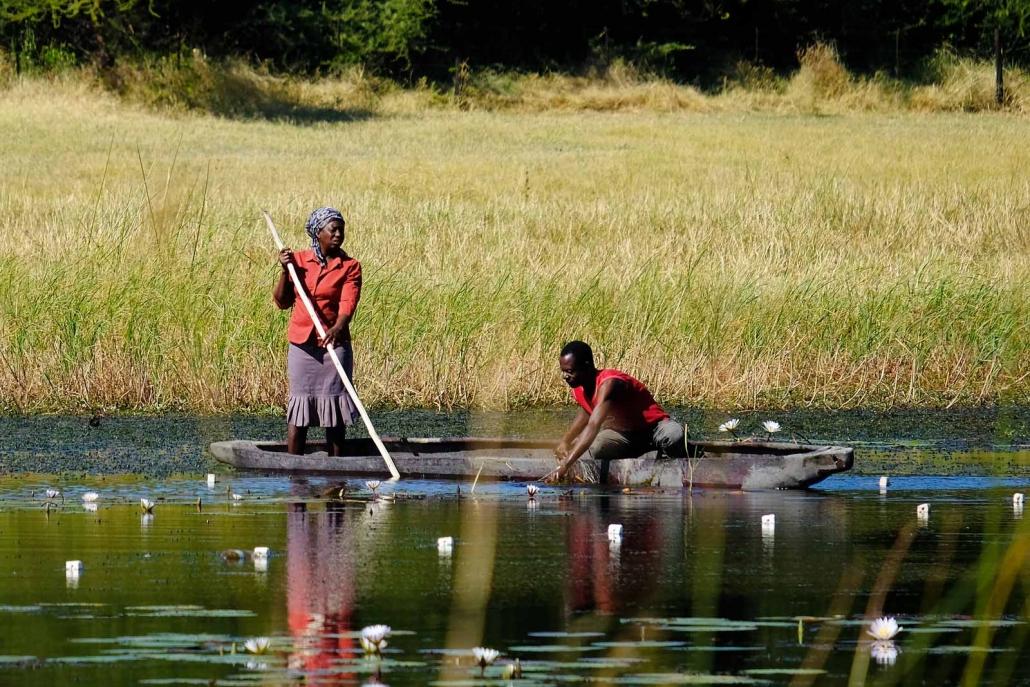 Fischer im Mokoro
