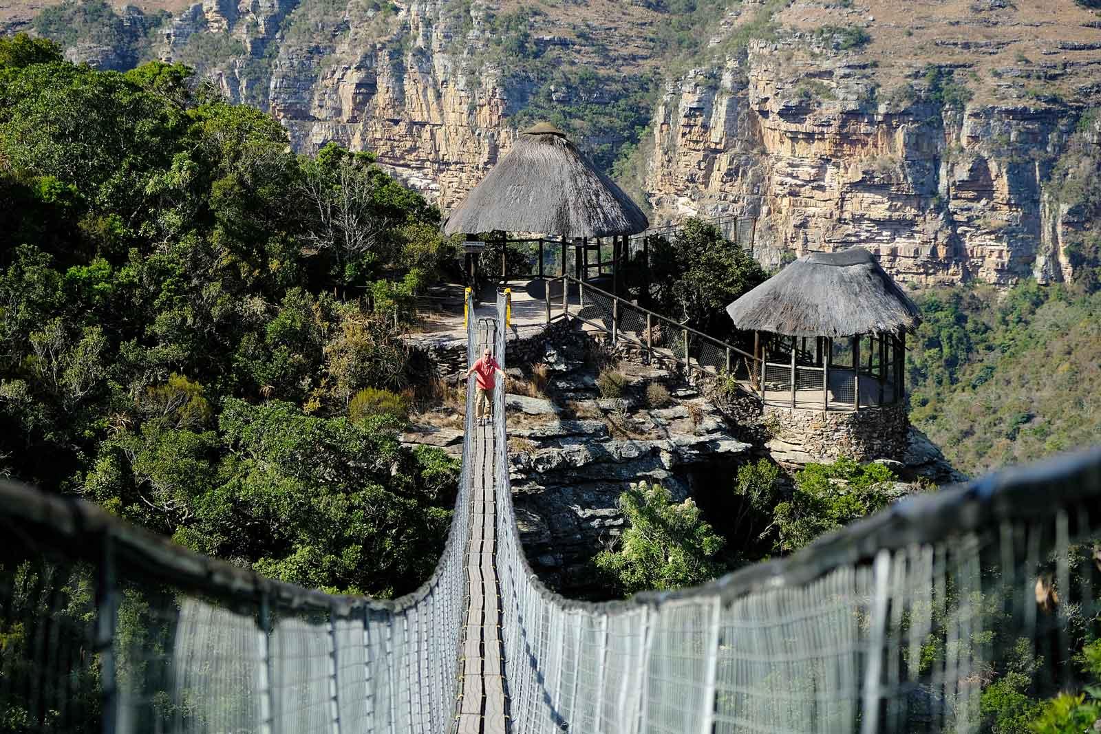 Suspension bridge am Lake Eland