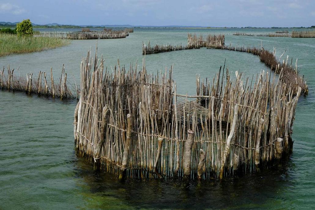 Fischfangzäune in der Kosi Bay, Kwazulu Natal