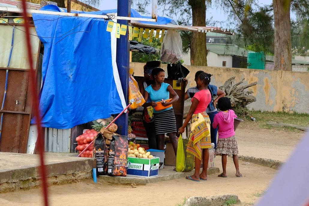 Verkaufsstand in Ponta do Ouro