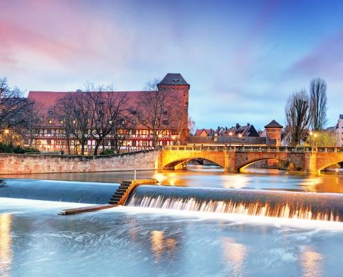 Nürnberg at the river Pegnitz